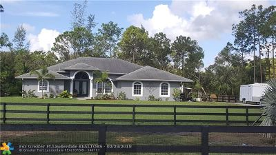 Loxahatchee Single Family Home For Sale: 6449 143rd Dr
