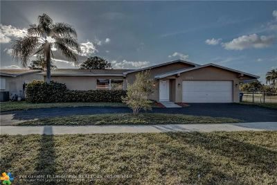 Sunrise Single Family Home For Sale: 3029 NW 120th Way