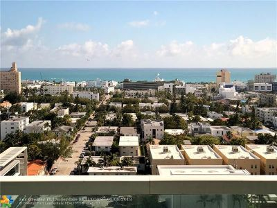 Miami Beach Condo/Townhouse For Sale: 650 West Ave #1904