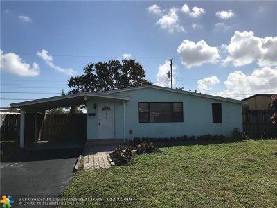 Oakland Park Single Family Home For Sale: 810 NE 58th Ct