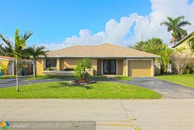 Oakland Park Single Family Home For Sale: 3351 NE 20th Ave