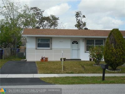 North Lauderdale Single Family Home Backup Contract-Call LA: 6621 SW 19th St