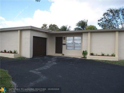 Sunrise Single Family Home Backup Contract-Call LA: 7451 NW 21st St