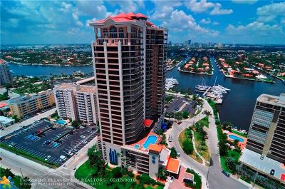 Fort Lauderdale Condo/Townhouse For Sale: 100 S Birch Rd #1802C