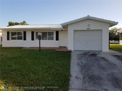 Plantation Single Family Home For Sale: 8960 NW 10th St
