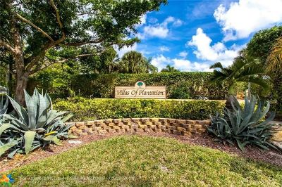 Plantation Condo/Townhouse For Sale: 1160 NW 79th Dr #1160
