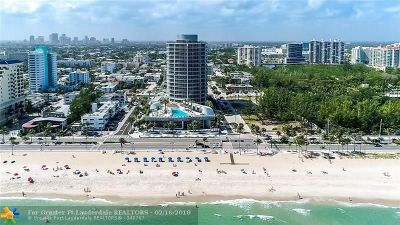 Fort Lauderdale Condo/Townhouse For Sale: 701 N Fort Lauderdale Beach Blvd #605