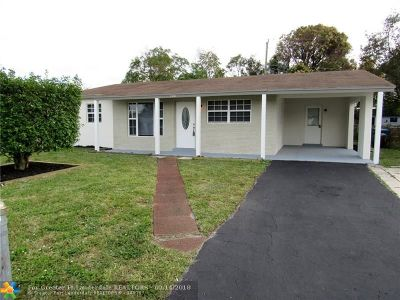 Lauderhill Single Family Home For Sale: 3350 NW 14th Pl