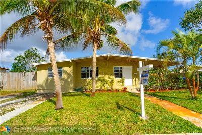 Pompano Beach Single Family Home For Sale: 1431 NE 43rd Ct