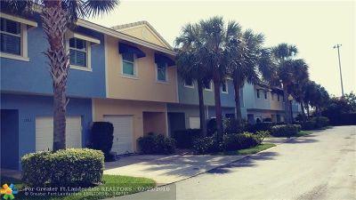 Fort Lauderdale Condo/Townhouse Backup Contract-Call LA: 1745 NE 4th Ave #F3