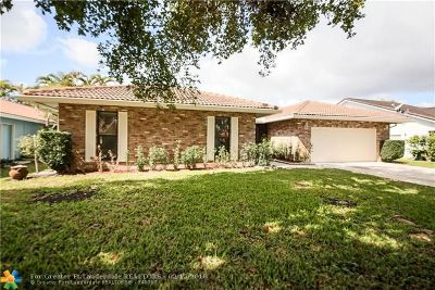 Coral Springs Single Family Home For Sale: 4118 NW 69th Ter