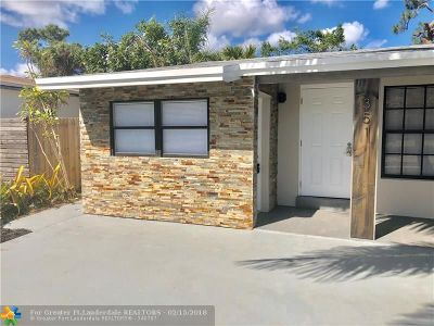 Oakland Park Single Family Home For Sale: 351 NW 51 St