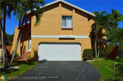 Coral Springs Single Family Home For Sale: 3541 NW 73rd Way