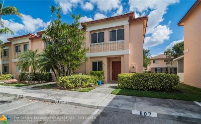 Pembroke Pines Condo/Townhouse Backup Contract-Call LA: 807 NW 208th Dr #807