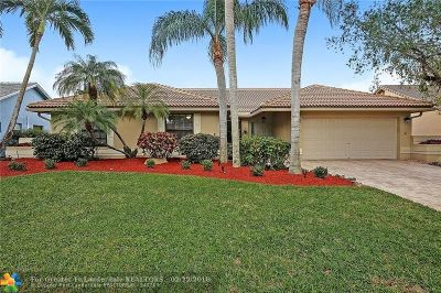 Coral Springs Single Family Home For Sale: 8812 NW 54th St