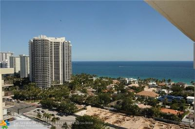 Fort Lauderdale Condo/Townhouse For Sale: 3015 N Ocean Blvd #19C