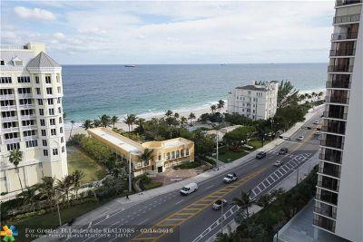 Fort Lauderdale Condo/Townhouse For Sale: 2011 N Ocean #206N