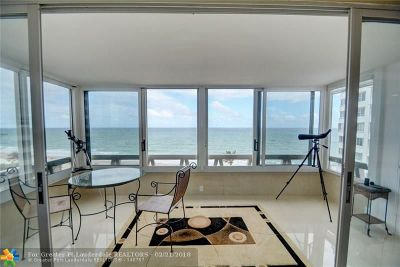 Lauderdale By The Sea Condo/Townhouse For Sale: 3900 N Ocean Dr #7A
