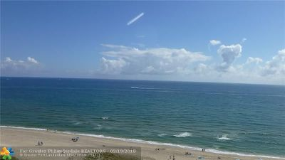 Pompano Beach Condo/Townhouse For Sale: 1012 N Ocean Blvd #1208