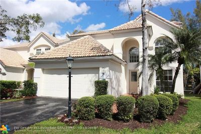 Coral Springs Single Family Home For Sale: 3963 Jasmine Ln