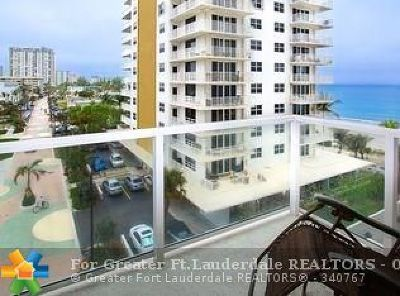 Pompano Beach Condo/Townhouse For Sale: 1000 S Ocean Blvd #6N