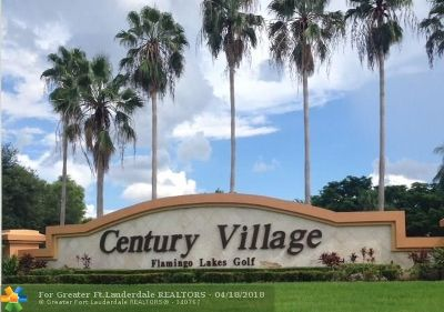 Pembroke Pines Condo/Townhouse For Sale: 12650 SW 6th St #308K