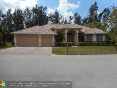 Davie Single Family Home For Sale: 1663 SW 132nd Way