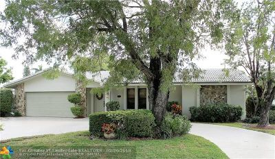 Coral Springs Single Family Home For Sale: 8740 NW 19th St