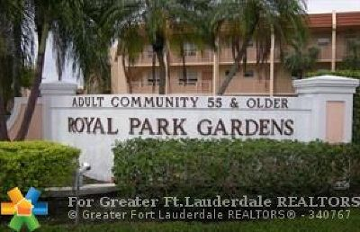 Margate Condo/Townhouse For Sale: 6750 Royal Palm Blvd #306E