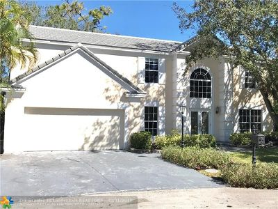 Coral Springs Single Family Home For Sale: 7507 Live Oak Dr