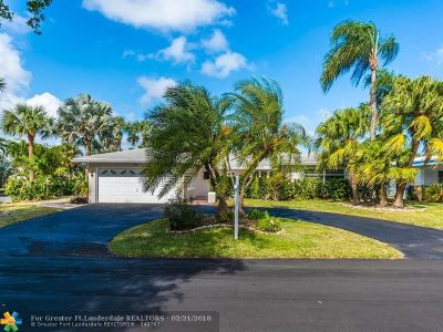 Oakland Park Single Family Home For Sale: 1801 NE 41st St