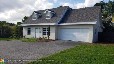 Oakland Park Single Family Home For Sale: 1585 NE 38th St