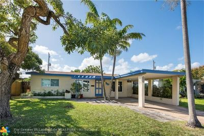 Oakland Park Single Family Home For Sale: 4641 NE 4th Ave