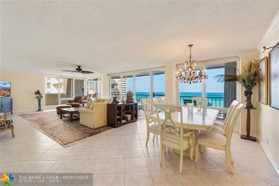 Fort Lauderdale Condo/Townhouse For Sale: 4280 Galt Ocean Dr #6F