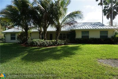 Davie Single Family Home For Sale: 14101 SW 20th St