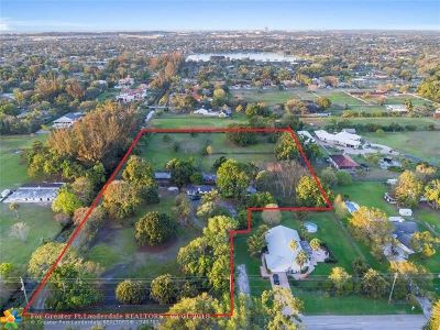 Davie Single Family Home For Sale: 14041 SW 20th St
