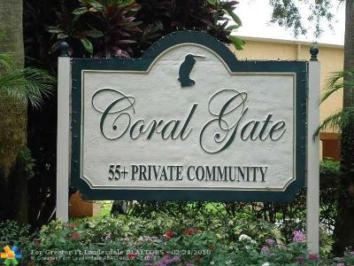Margate Condo/Townhouse For Sale: 5912 Coral Lake Dr #112