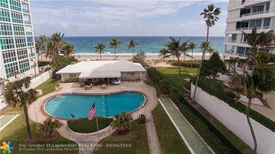 Pompano Beach Condo/Townhouse For Sale: 1431 S Ocean Blvd #80