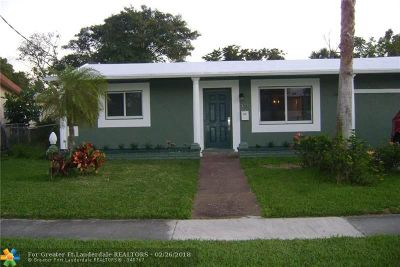 Lauderdale Lakes Single Family Home For Sale: 3710 NW 23rd St