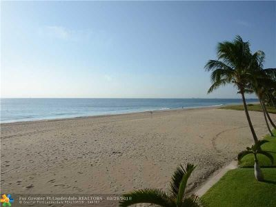 Pompano Beach Single Family Home For Sale: 1431 S Ocean Blvd Villa#1