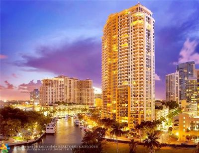 Fort Lauderdale Condo/Townhouse For Sale: 411 N New River Drive #1201