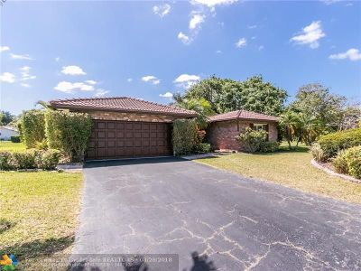 Coral Springs Single Family Home For Sale: 11580 NW 20th Dr