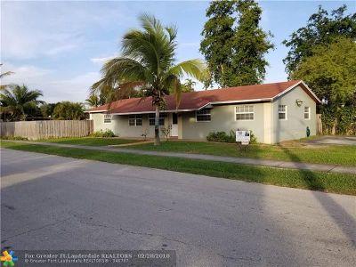 Oakland Park Single Family Home For Sale: 801 NE 34th St