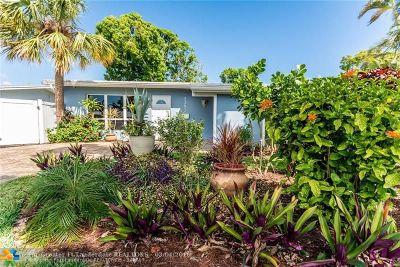 Oakland Park Single Family Home For Sale: 1383 NE 39th St