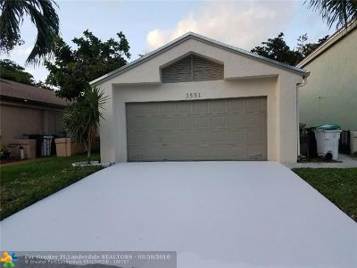 Coconut Creek Single Family Home For Sale: 3551 NW 21st St