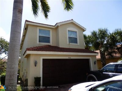Boynton Beach Single Family Home For Sale: 7656 Corkwood Ave