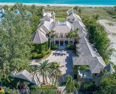 Delray Beach Single Family Home For Sale: 611 S Ocean Boulevard