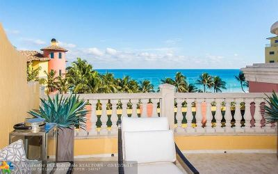 Fort Lauderdale Condo/Townhouse For Sale: 2100 N Ocean Bl #5D
