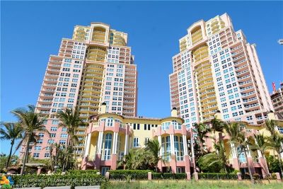 Fort Lauderdale Condo/Townhouse For Sale: 2100 N Ocean Blvd #12A