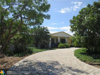 Lauderdale By The Sea Single Family Home For Sale: 1970 Coral Reef Dr